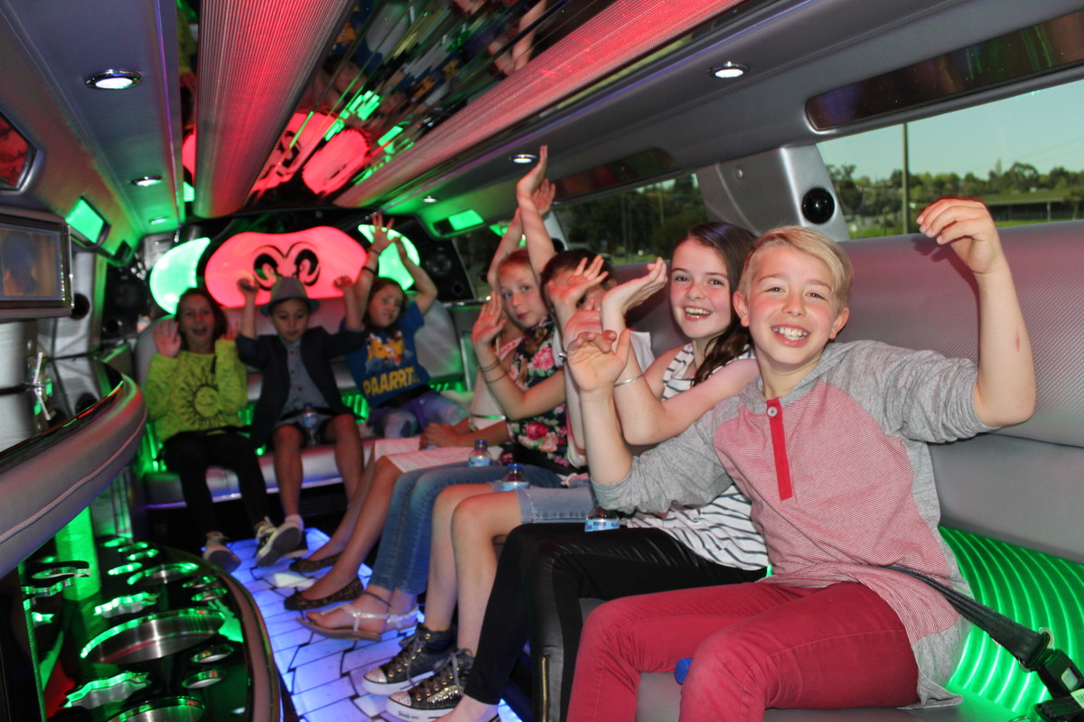 Ladies shopping in Hummer Limo hire Melbourne